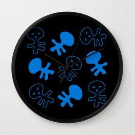 Aliens-Blue Wall Clock