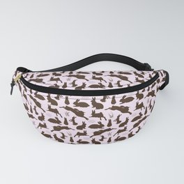Rabbit Pattern   Rabbit Silhouettes   Bunny Rabbits   Bunnies   Hares   Pink and Brown   Fanny Pack