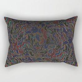paranoia neon Rectangular Pillow