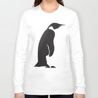penguin Long Sleeve T-shirts featuring Penguin by Cs025