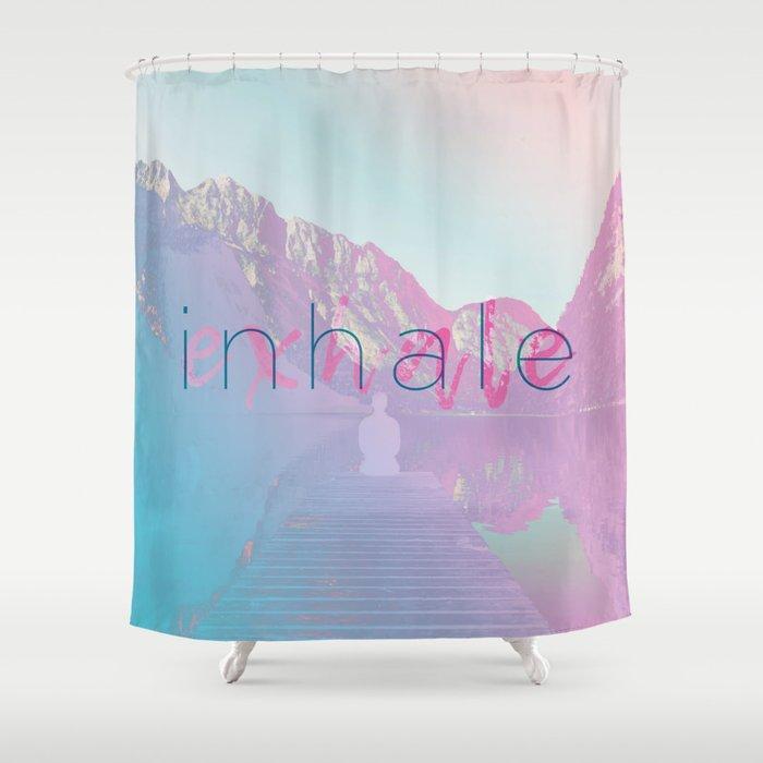 Inhale / Exhale Shower Curtain