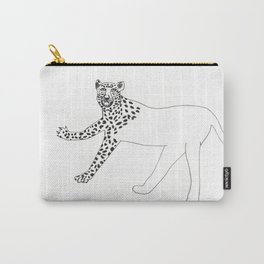 Half-dressed leopard Carry-All Pouch