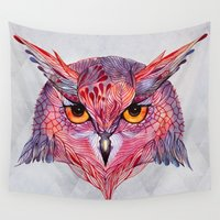 tool Wall Tapestries featuring Owla owl by Ola Liola