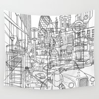 london Wall Tapestries featuring London! by David Bushell