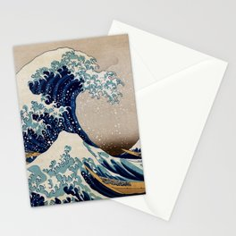 Under the Great Wave by Hokusai Stationery Cards