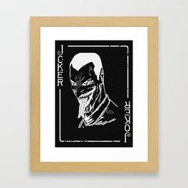 The Joker playing Card Print Framed Art Print