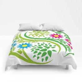 Yin Yang Flower Comforters