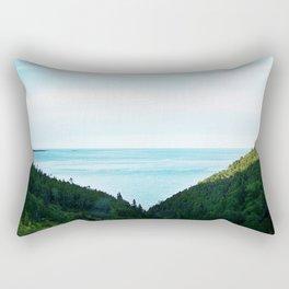Seaside Mountain Crevasse Rectangular Pillow