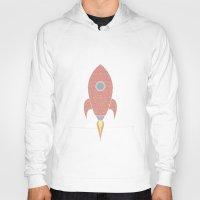 rocket Hoodies featuring Rocket by Duncan Graham