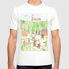 Locals Only- Danville Mens Fitted Tee MEDIUM White