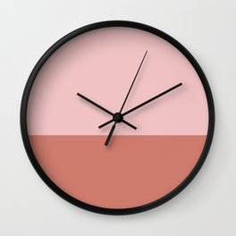 Pink & Indian Red - color story Wall Clock