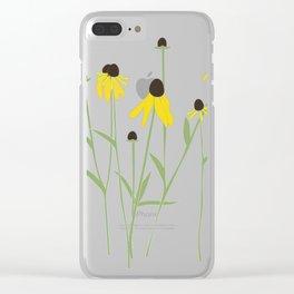 Grey-headed Coneflower (Ratibida pinnata) Clear iPhone Case