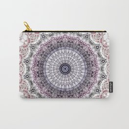 Bohemian White Detailed Mandala Design Carry-All Pouch