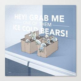 Ice Cold Bears Canvas Print