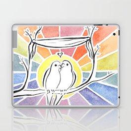 Wedding Love Birds at Sunset Laptop & iPad Skin
