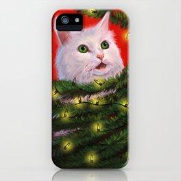 Tinsel Cat iPhone Case