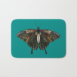 swallowtail butterfly teal Bath Mat