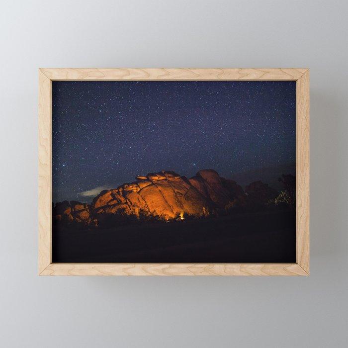Outback Camping Framed Mini Art Print