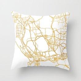 SHENZHEN CHINA CITY STREET MAP ART Throw Pillow