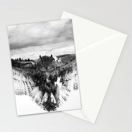 Owl Mid Flight Stationery Cards