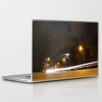 broadway Laptop & iPad Skins featuring Broadway night blur by RMK Photography