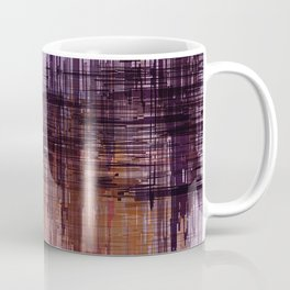 Purple / Violet Painting in Minimalist and Abstract Style Coffee Mug
