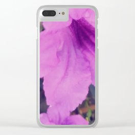 Purple Groundcover Clear iPhone Case