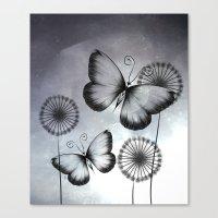 butterflies Canvas Prints featuring Butterflies by LouJah