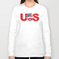 soccer Long Sleeve T-shirts featuring USA Soccer by Bunhugger Design