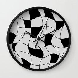 Lines Black Wall Clock