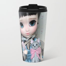 ** Carmen is delighted with her new kitty! :) ** Travel Mug