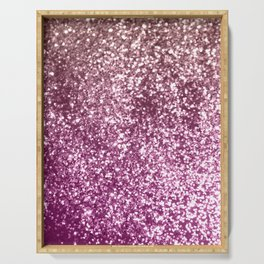 Sparkling BLACKBERRY CHAMPAGNE Lady Glitter #1 #decor #art #society6 Serving Tray