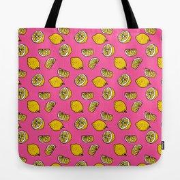 Retro Lemon Pop Tote Bag