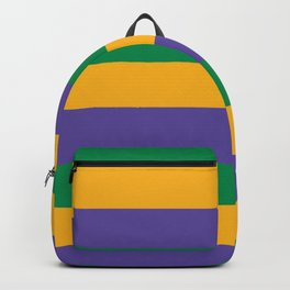 Mardi Gras Rugby Stripe Backpack