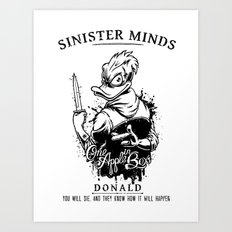 Sinister Minds. Donald Art Print
