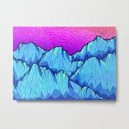 Blue tone mountains Metal Print