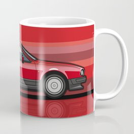Alfa Romeo GTV6 Red Stripes Coffee Mug