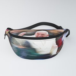 Pope Francis In Crowd of Faithful Acrylic 3 Fanny Pack
