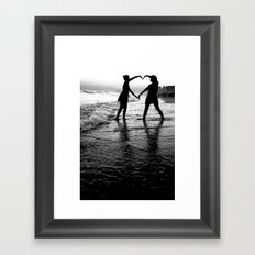 Love BW Framed Art Print