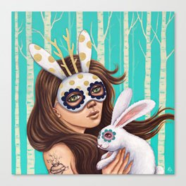 Jackalope and Bunny Canvas Print
