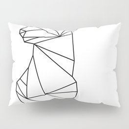 Geometric Doe (Black on White) Pillow Sham