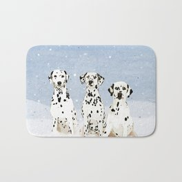 Dalmatians in the Snow Bath Mat