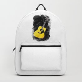 Guitar Watercolor Art / Love Music Player Graphic Acoustic design Backpack