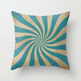 Big Top Aged Print in Blue Throw Pillow