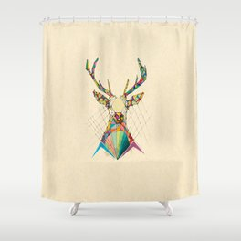 Illustrated Antelope Shower Curtain