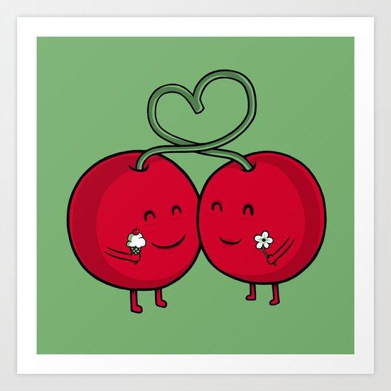 Cherry Love Art Print