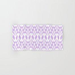 Decorative Plumes - White on Lavender Pink Hand & Bath Towel