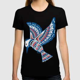 Kingfisher Pacific Northwest Native American Style Art T-shirt
