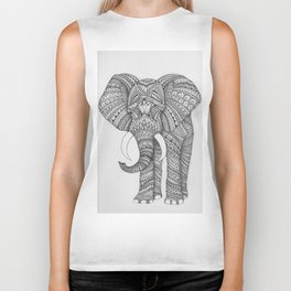 Elephant mandala Biker Tank