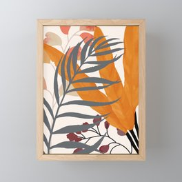 Colorful Red Leaves Framed Mini Art Print